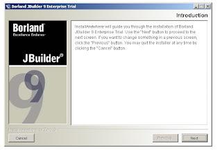 JBuilder 9 Installation Window