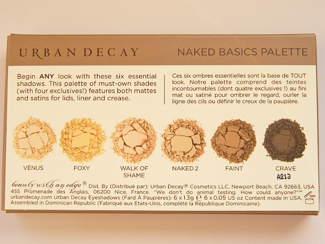 Urban Decay Naked Basics palette review