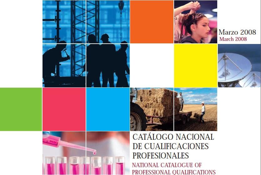 - Catalogo Nacional de Cualificaciones Profesionales.