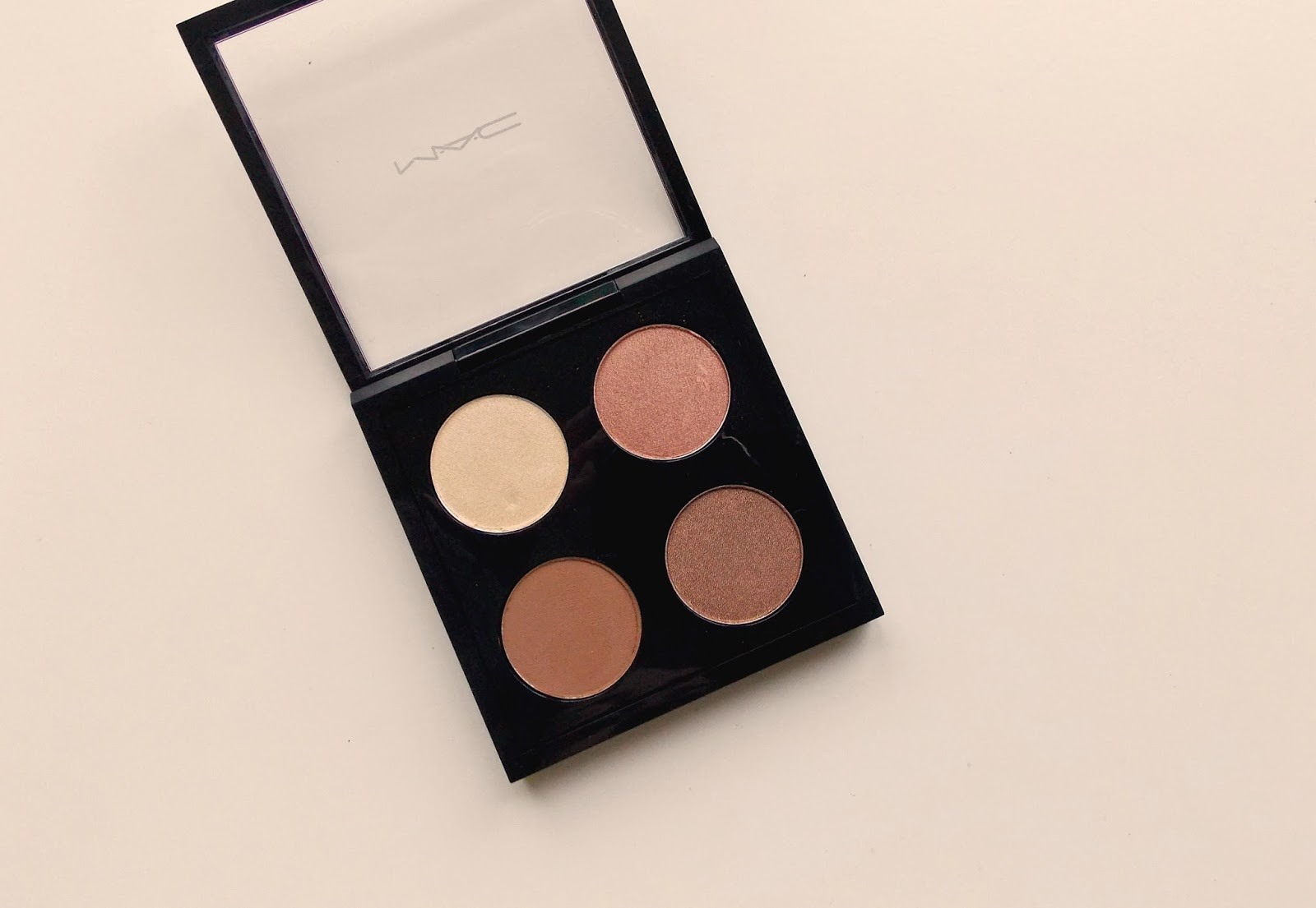 MAC personal eyeshadow quad, pro palette, review, photo, swatches, finished
