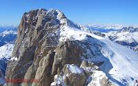 ľadovec Marmolada pohľad z Punta Rocca
