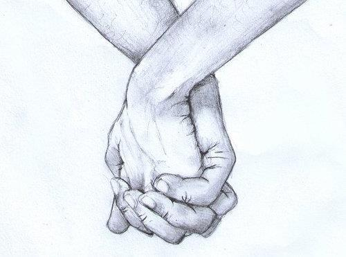 Drawing of Hands Holding Couple Holding Hands Drawing