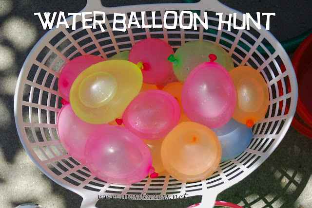 Water Balloon Hunt, #water-balloons, #kids, #play, #summer