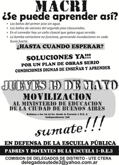 Trabajadores docentes de base jueves 19 de mayo for Que oficina de empleo me corresponde