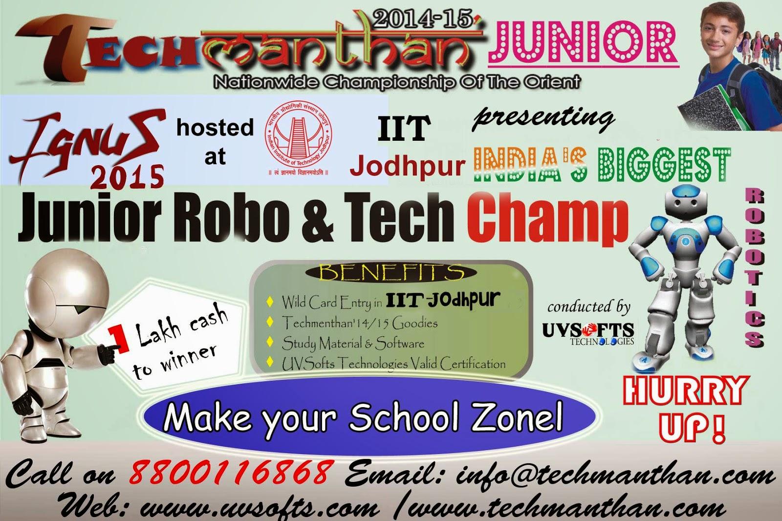 Uvsofts Technologies Ignus 15 Hosted At Iit Jodhpur Presenting A