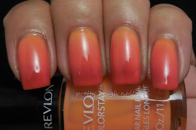 Summer Gradient Sinful Sunburnt, Revlon Sorbet, and Sally Hansen Right Said Red