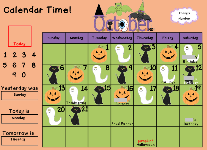 Classroom Calendar Numbers : Great reasons to have a calendar math routine mrs