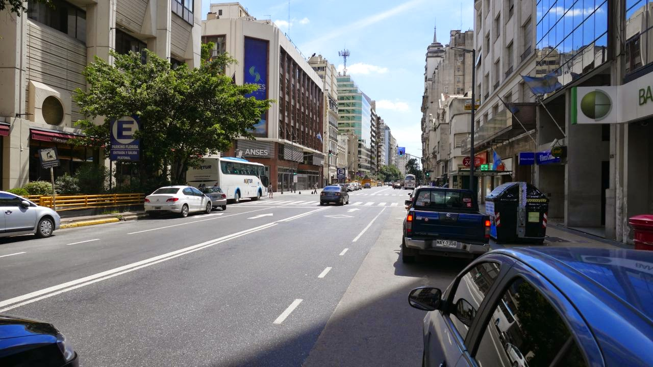 Buenos Aires zu Fuss erkunden - Strassenbild
