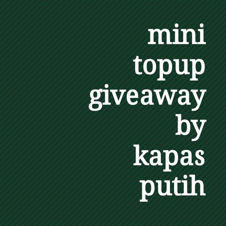 Keputusan mini topup giveaway