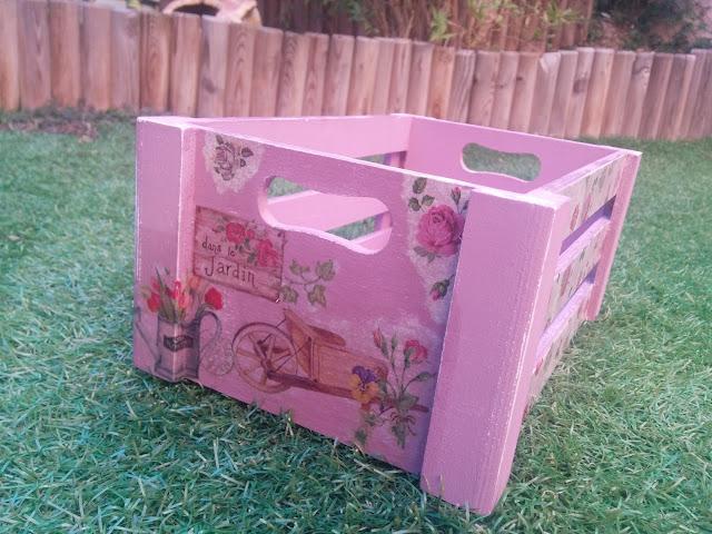 Caja decoración 100% handmade decoupage
