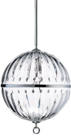 Cyan Janus Wide Chrome Pendant Light