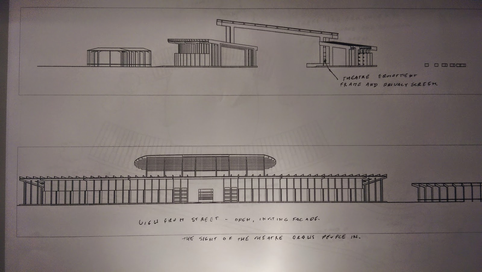 updated and annotated plans sections and elevations