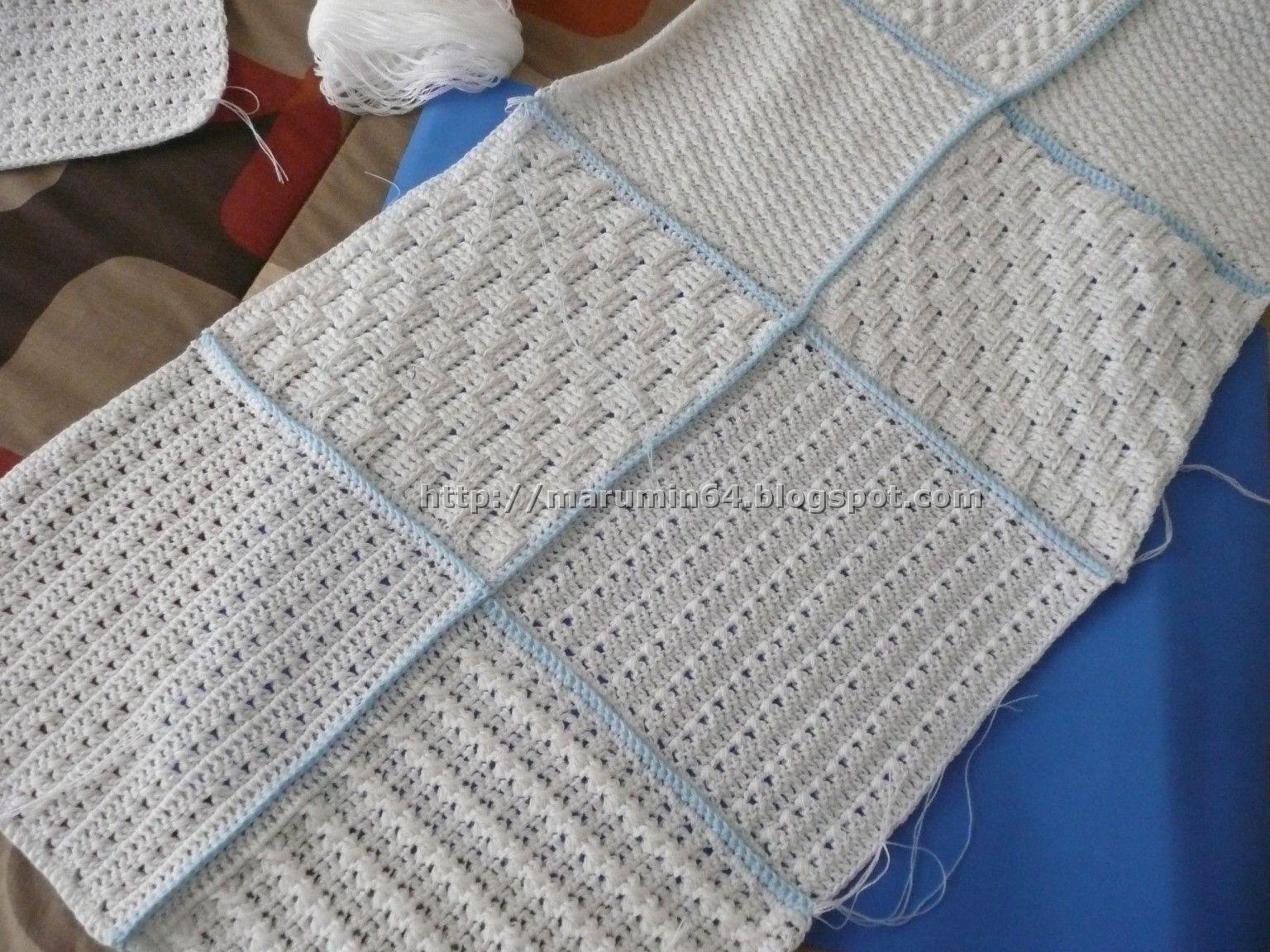 Marumin crochet manta de cuadrados squares blanket - Mantas de crochet a cuadros ...