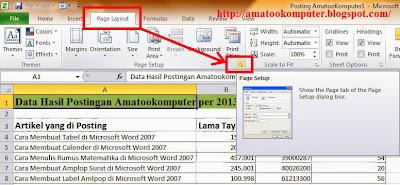 Cara Membuat Header dan Footer di Microsoft Excel 2007/2010 1