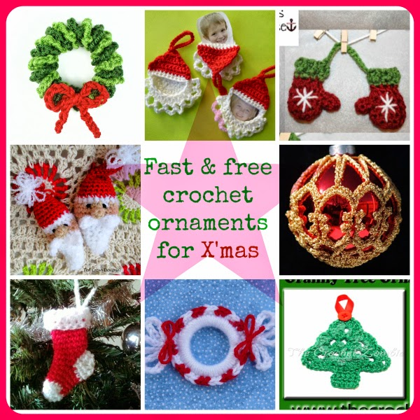 Fast And Free Crochet Ornament Patterns For Christmas