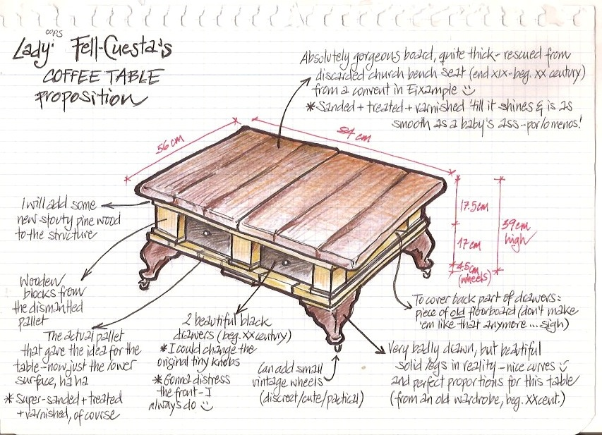 A Country Chic Pallet Coffee Table