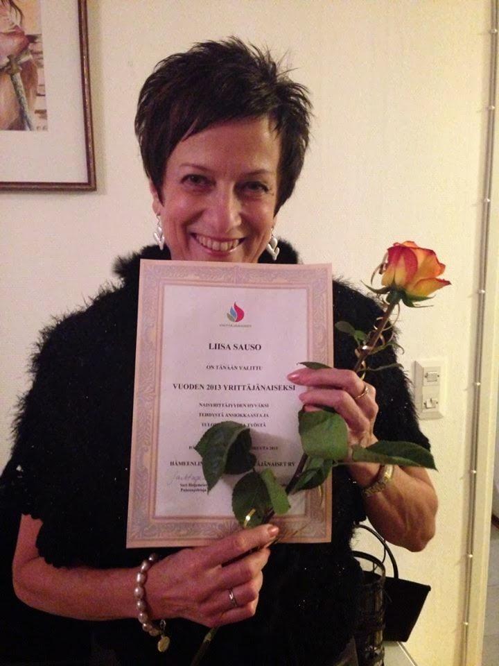 Liisa Sauso valittiin vuoden Hämeen yrittäjänaiseksi!