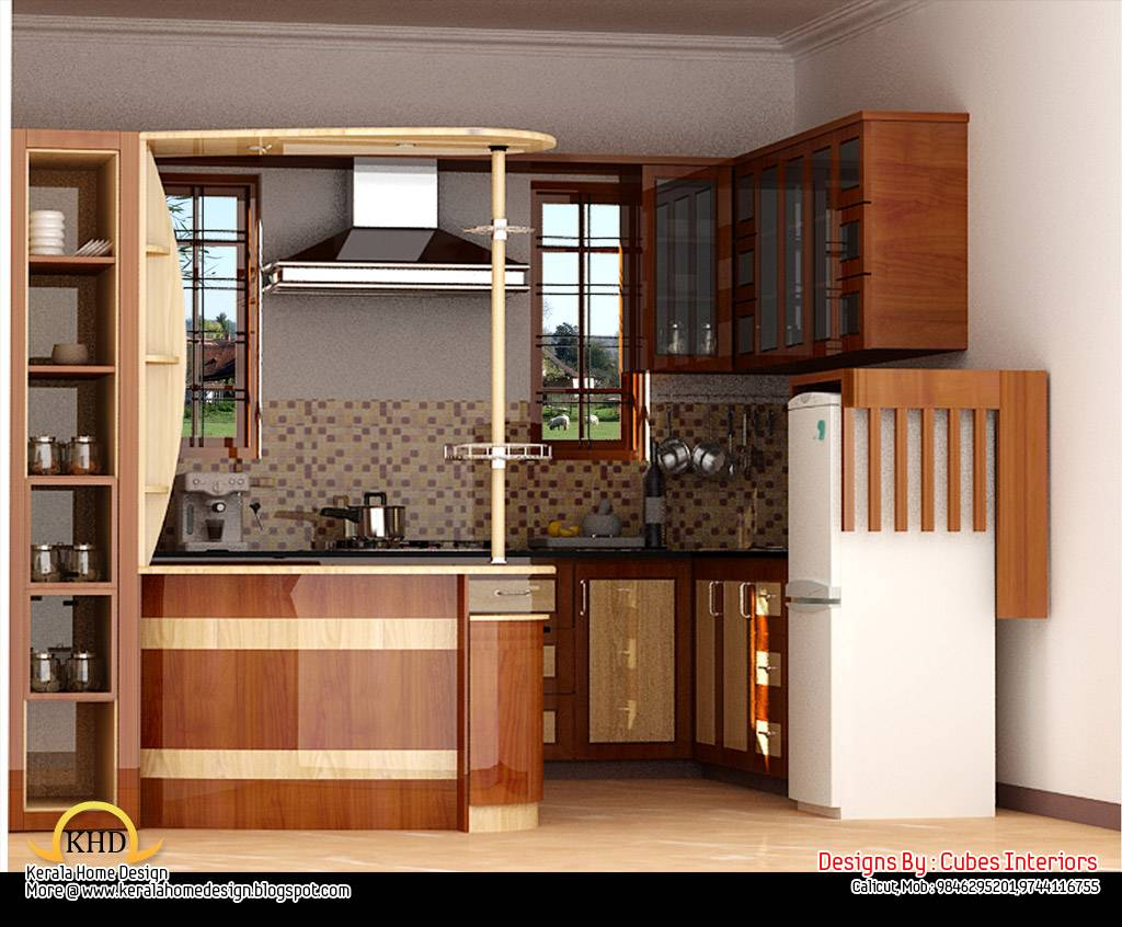 Home interior design ideas kerala home for House plans with interior pictures