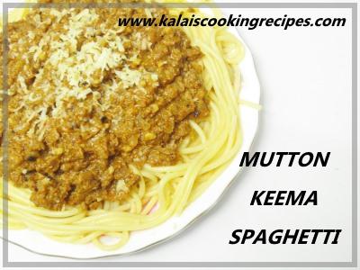 Mutton Keema Spaghetti