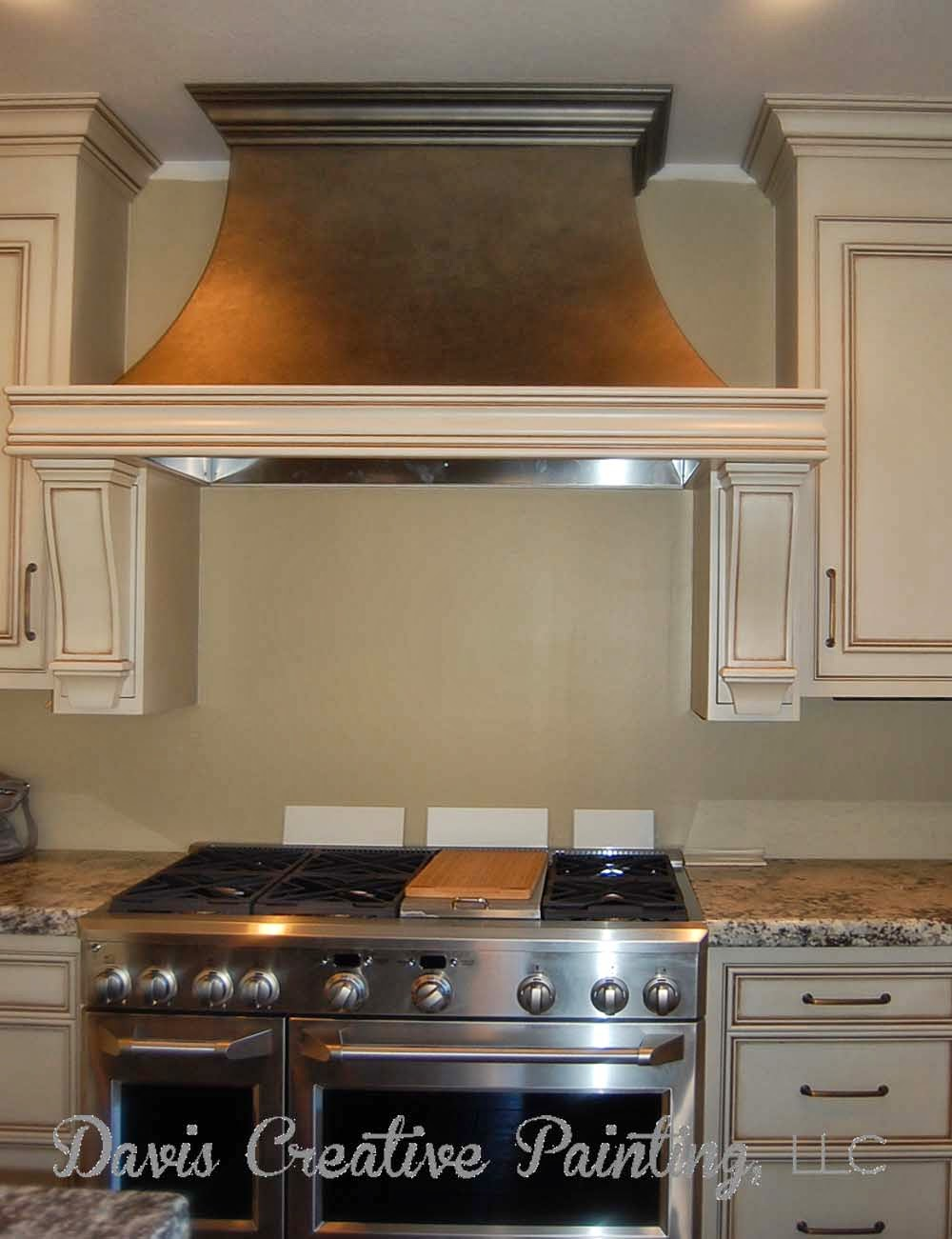 davis creative painting metallic painted range hood