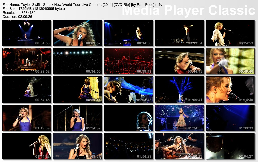 Taylor Swift - Speak Now World Tour Live Concert [2011] [DVD-Rip] [1.7 GB - M4V]