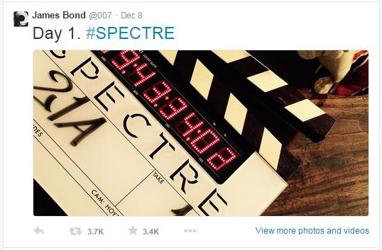 SPECTRE DAY 1 Shoot Starts