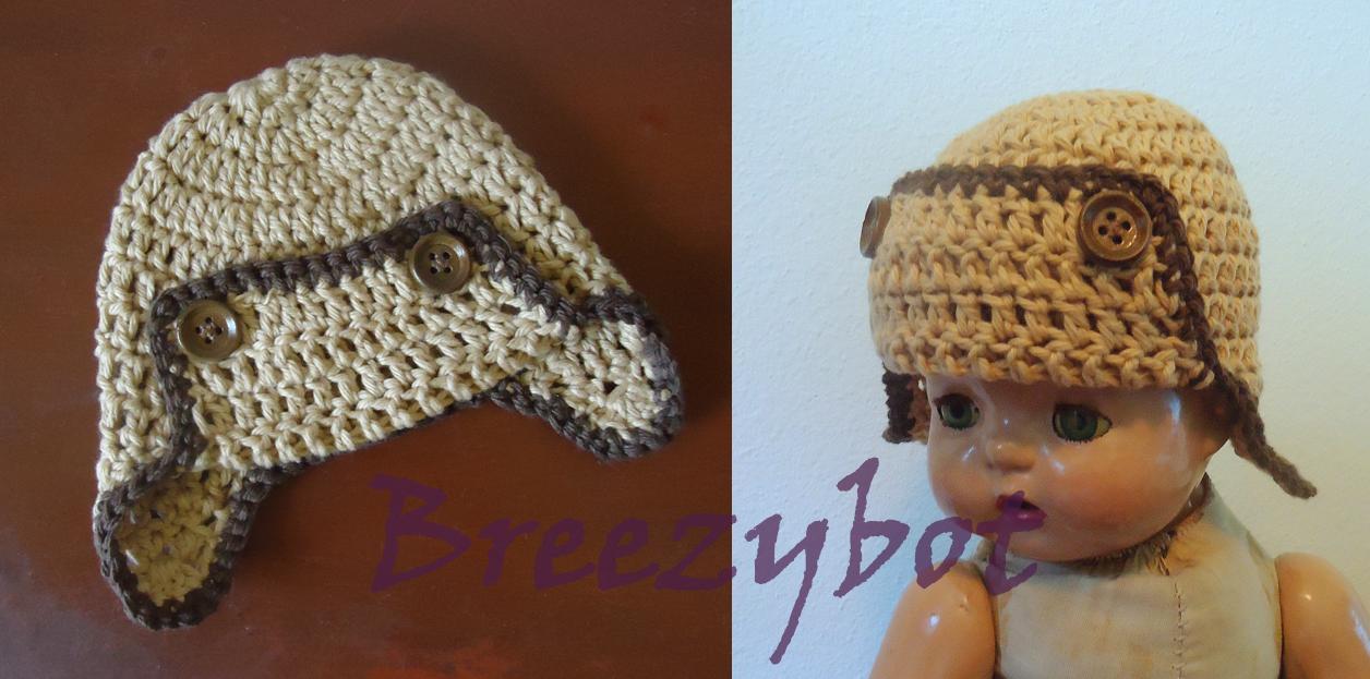 Crochet Newborn Aviator Hat Pattern : Crochet Gadis Pekan: Set Bayi dan Kanak2