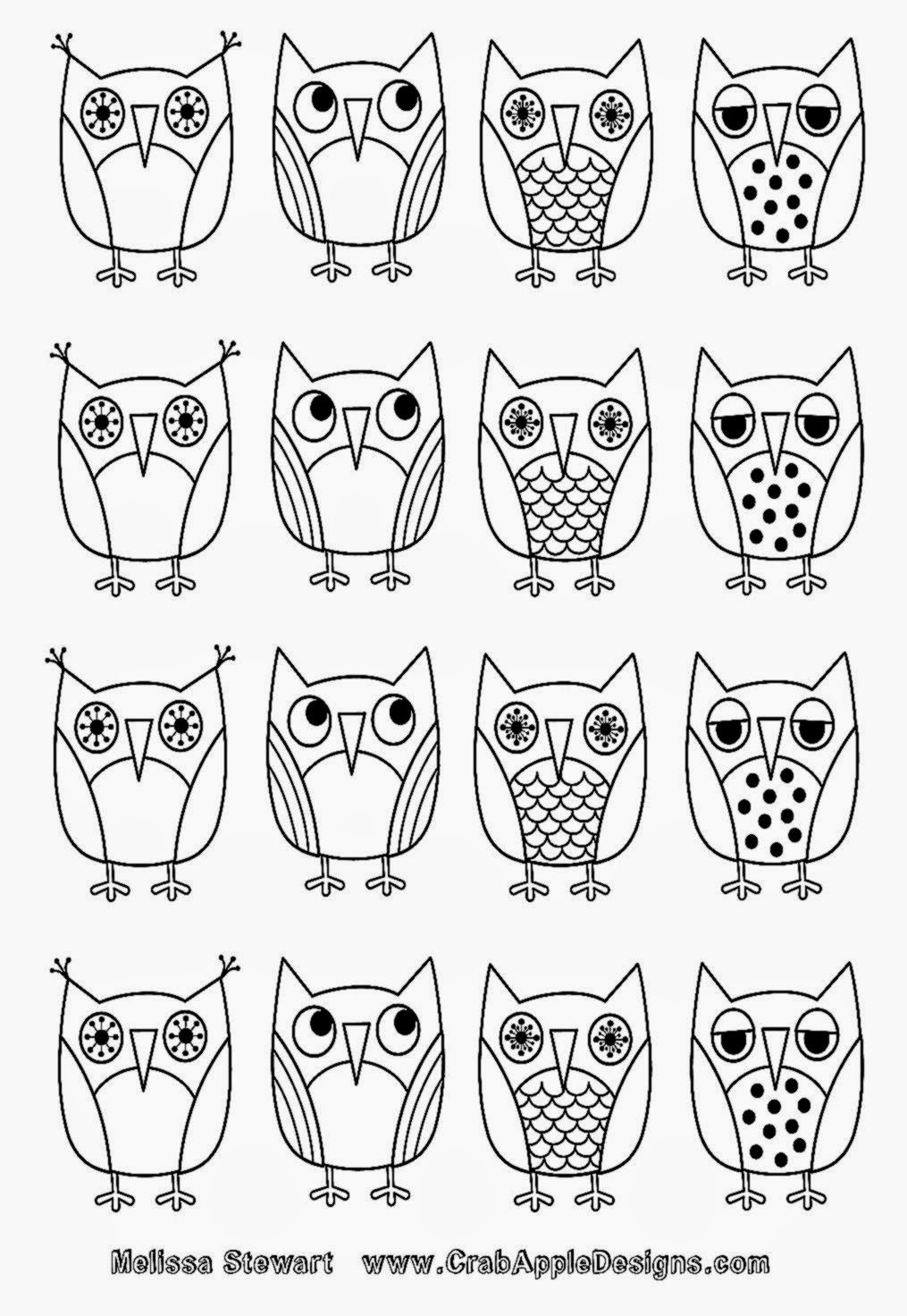 Pics For Gt Coloring Pages Adults Difficult Owls