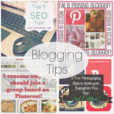 Blogging Tips @ www.natashainoz.com