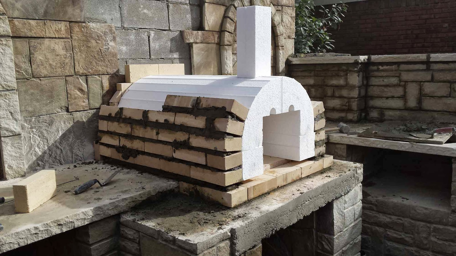 Brickwood ovens checkmark landscaping wood fired brick for Forno a legna per pizza fai da te