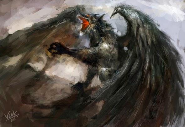 Vuk Kostic chevsy deviantart ilustrações fantasia dragões