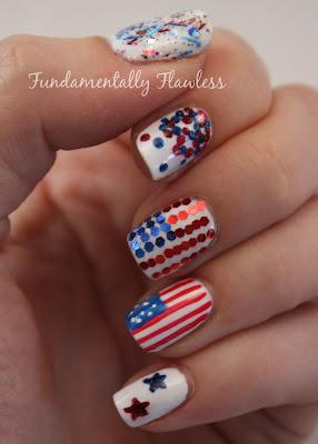 Models Own July 4th American Nail Art