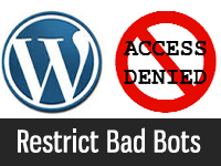 wordpress bad bot restriction