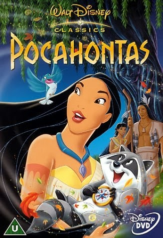 Pocahontas dvd cover Disney movie animatedfilmreviews.filminspector.com