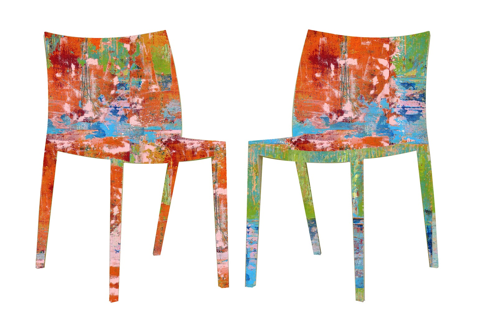 spills and splatters chair art