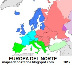 Mapa de Europa del Norte