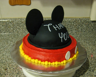 Mickey Mouse Ears Teacher Appreciation Cake - Angled View
