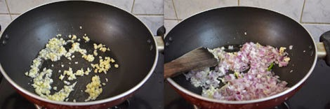 sauteing onions and garlic