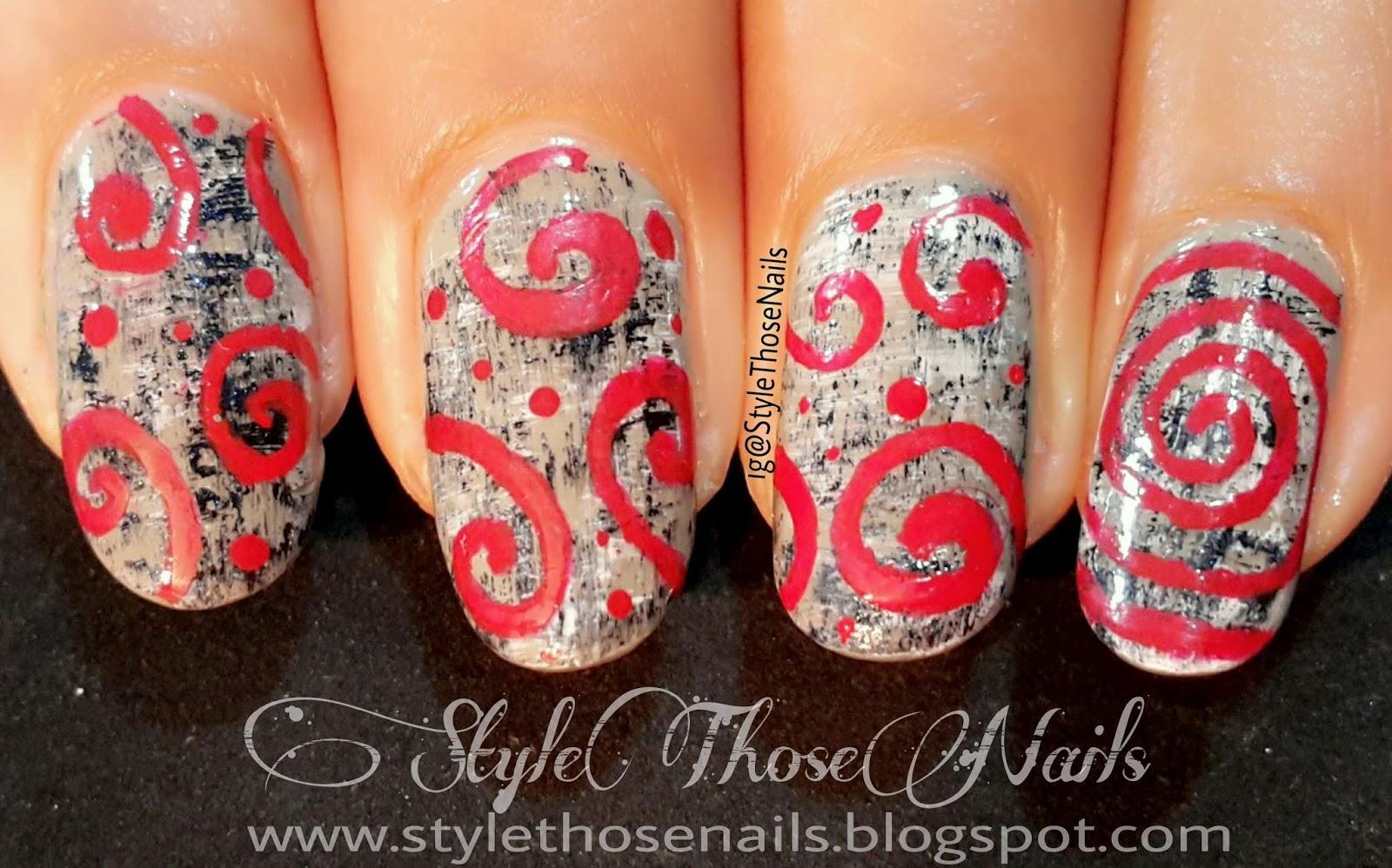 Style Those Nails Textured Tweed Swirls Nailart Fall Nail Design