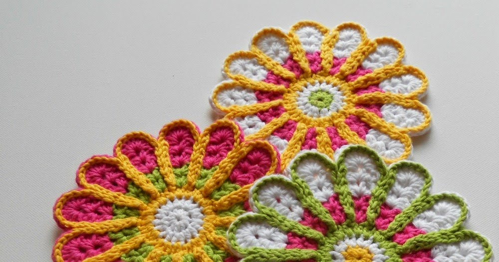 Free Crochet Pattern For Mum Flower : My Hobby Is Crochet: Chrysanthemum / Flower Coaster ? Free ...