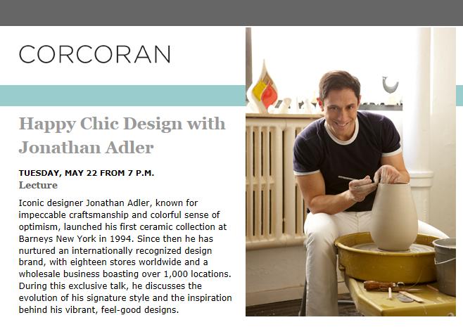 Interior Design Social DiaryTM Jonathan Adler At The Corcoran