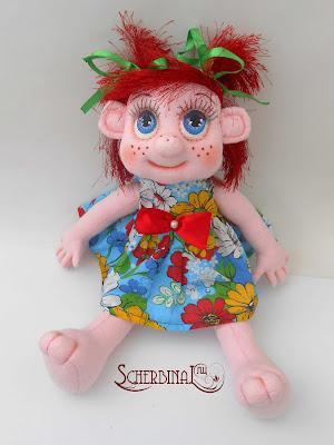 игровая текстильная кукла карамелька