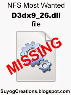 NFS Most wanted D3dx9_26.dll file is missing