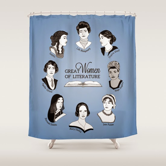 This Curtain, By Geeksweetie, Covers Great Women Of Literature Including Agatha  Christie, Mary Shelley And Virginia Woolf.