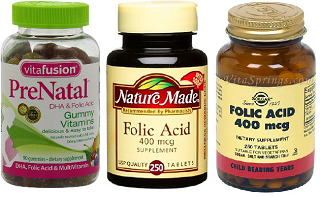 Image: Folic Acid 400 mcg - Supplement for prenatal health and wellbeing