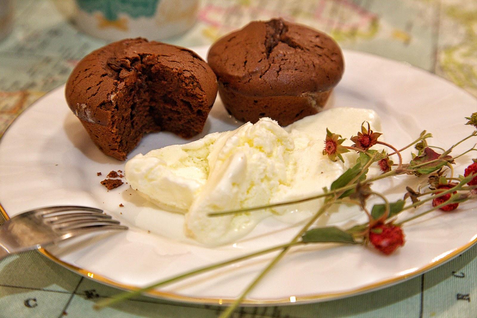 шоколадный фондан маффин рецепт мороженное