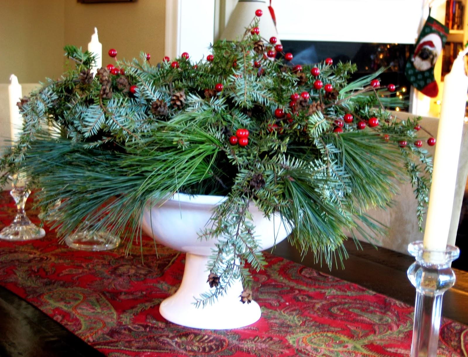 Natural Holiday Centerpiece : Salt marsh cottage natural christmas centerpieces tutorial