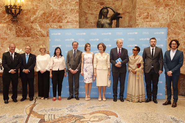 Queen Letizia And Queen Sofia Attend 2015 UNICEF Awards