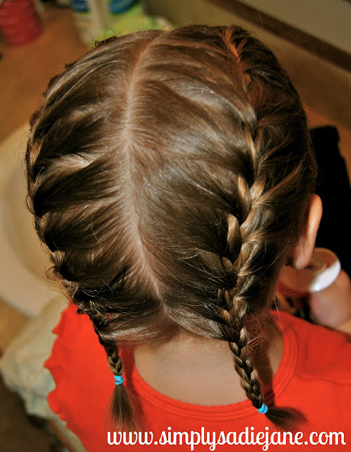 What can you do when a little girl has fine hair girlhair an easy option for a slightly different look than the french braid is french braid pigtails ccuart Choice Image
