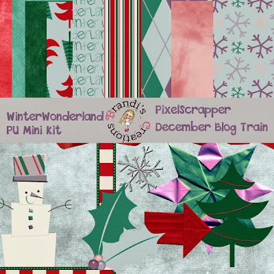December Pixel Scrapper Blog Train- Winter Wonderland Freebie